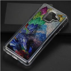 Phoenix Glassy Glitter Quicksand Dynamic Liquid Soft Phone Case for Samsung Galaxy A6 (2018)