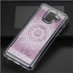 Mandala Glassy Glitter Quicksand Dynamic Liquid Soft Phone Case for Samsung Galaxy A6 (2018)
