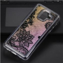 Diagonal Lace Glassy Glitter Quicksand Dynamic Liquid Soft Phone Case for Samsung Galaxy A6 (2018)