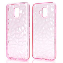 Diamond Pattern Shining Soft TPU Phone Back Cover for Samsung Galaxy A6 (2018) - Pink