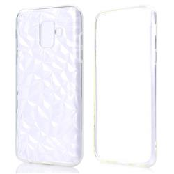 Diamond Pattern Shining Soft TPU Phone Back Cover for Samsung Galaxy A6 (2018) - Transparent