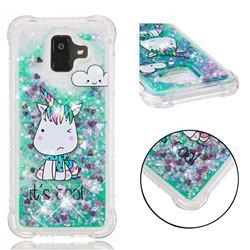 Tiny Unicorn Dynamic Liquid Glitter Sand Quicksand Star TPU Case for Samsung Galaxy A6 (2018)
