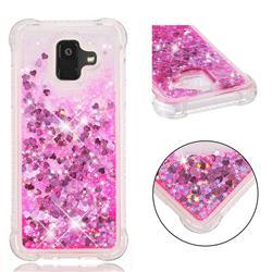 Dynamic Liquid Glitter Sand Quicksand TPU Case for Samsung Galaxy A6 (2018) - Pink Love Heart