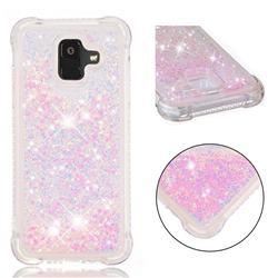 Dynamic Liquid Glitter Sand Quicksand TPU Case for Samsung Galaxy A6 (2018) - Silver Powder Star
