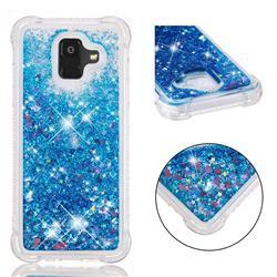 Dynamic Liquid Glitter Sand Quicksand TPU Case for Samsung Galaxy A6 (2018) - Blue Love Heart