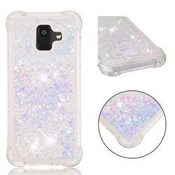 Dynamic Liquid Glitter Sand Quicksand Star TPU Case for Samsung Galaxy A6 (2018) - Pink