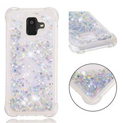 Dynamic Liquid Glitter Sand Quicksand Star TPU Case for Samsung Galaxy A6 (2018) - Silver