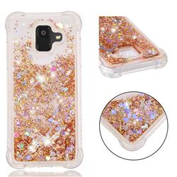 Dynamic Liquid Glitter Sand Quicksand Star TPU Case for Samsung Galaxy A6 (2018) - Diamond Gold