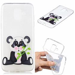 Bamboo Panda Clear Varnish Soft Phone Back Cover for Samsung Galaxy A6 (2018)