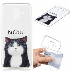 Cat Say No Clear Varnish Soft Phone Back Cover for Samsung Galaxy A6 (2018)