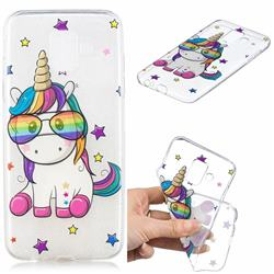 Glasses Unicorn Clear Varnish Soft Phone Back Cover for Samsung Galaxy A6 (2018)