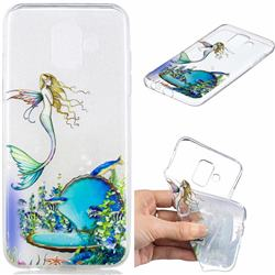 Mermaid Clear Varnish Soft Phone Back Cover for Samsung Galaxy A6 (2018)