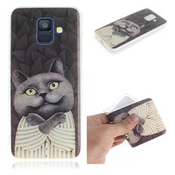 Cat Embrace IMD Soft TPU Cell Phone Back Cover for Samsung Galaxy A6 (2018)
