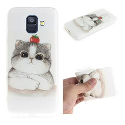 Cute Tomato Cat IMD Soft TPU Cell Phone Back Cover for Samsung Galaxy A6 (2018)