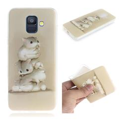 Three Squirrels IMD Soft TPU Cell Phone Back Cover for Samsung Galaxy A6 (2018)