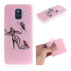 Butterfly High Heels IMD Soft TPU Cell Phone Back Cover for Samsung Galaxy A6 (2018)