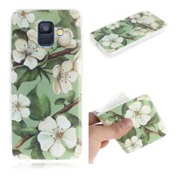 Watercolor Flower IMD Soft TPU Cell Phone Back Cover for Samsung Galaxy A6 (2018)