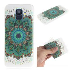Peacock Mandala IMD Soft TPU Cell Phone Back Cover for Samsung Galaxy A6 (2018)