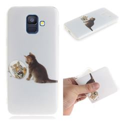 Cat and Tiger IMD Soft TPU Cell Phone Back Cover for Samsung Galaxy A6 (2018)