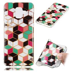 Three-dimensional Square Soft TPU Marble Pattern Phone Case for Samsung Galaxy A6 (2018)