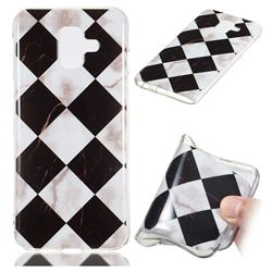 Black and White Matching Soft TPU Marble Pattern Phone Case for Samsung Galaxy A6 (2018)