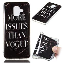 Stylish Black Soft TPU Marble Pattern Phone Case for Samsung Galaxy A6 (2018)