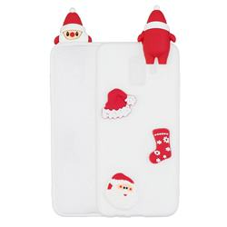 White Santa Claus Christmas Xmax Soft 3D Silicone Case for Samsung Galaxy A6 (2018)