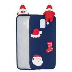Navy Santa Claus Christmas Xmax Soft 3D Silicone Case for Samsung Galaxy A6 (2018)