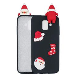 Black Santa Claus Christmas Xmax Soft 3D Silicone Case for Samsung Galaxy A6 (2018)