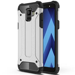 King Kong Armor Premium Shockproof Dual Layer Rugged Hard Cover for Samsung Galaxy A6 (2018) - Technology Silver