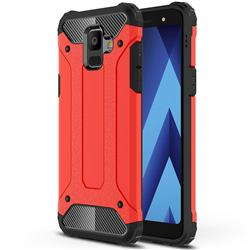 King Kong Armor Premium Shockproof Dual Layer Rugged Hard Cover for Samsung Galaxy A6 (2018) - Big Red