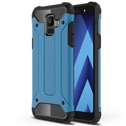 King Kong Armor Premium Shockproof Dual Layer Rugged Hard Cover for Samsung Galaxy A6 (2018) - Sky Blue