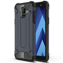 King Kong Armor Premium Shockproof Dual Layer Rugged Hard Cover for Samsung Galaxy A6 (2018) - Navy