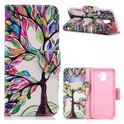The Tree of Life Leather Wallet Case for Samsung Galaxy A6 (2018)