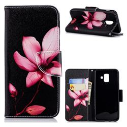 Lotus Flower Leather Wallet Case for Samsung Galaxy A6 (2018)