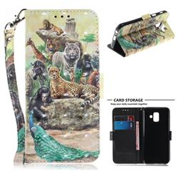 Beast Zoo 3D Painted Leather Wallet Phone Case for Samsung Galaxy A6 (2018)