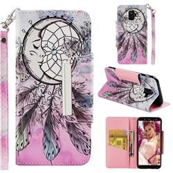 Angel Monternet Big Metal Buckle PU Leather Wallet Phone Case for Samsung Galaxy A6 (2018)