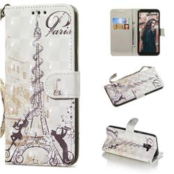 Tower Couple 3D Painted Leather Wallet Phone Case for Samsung Galaxy A6 (2018)