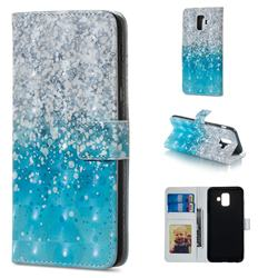 Sea Sand 3D Painted Leather Phone Wallet Case for Samsung Galaxy A6 (2018)