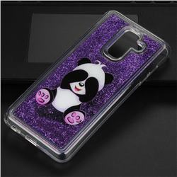 Naughty Panda Glassy Glitter Quicksand Dynamic Liquid Soft Phone Case for Samsung Galaxy A6 Plus (2018)