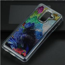 Phoenix Glassy Glitter Quicksand Dynamic Liquid Soft Phone Case for Samsung Galaxy A6 Plus (2018)