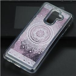 Mandala Glassy Glitter Quicksand Dynamic Liquid Soft Phone Case for Samsung Galaxy A6 Plus (2018)