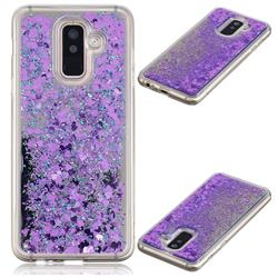Glitter Sand Mirror Quicksand Dynamic Liquid Star TPU Case for Samsung Galaxy A6 Plus (2018) - Purple