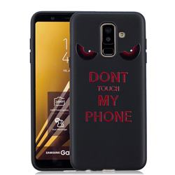Red Eyes 3D Embossed Relief Black Soft Back Cover for Samsung Galaxy A6 Plus (2018)