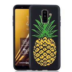 Big Pineapple 3D Embossed Relief Black Soft Back Cover for Samsung Galaxy A6+ (2018)