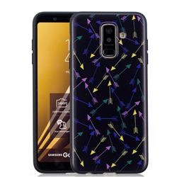 Colorful Arrows 3D Embossed Relief Black Soft Back Cover for Samsung Galaxy A6 Plus (2018)
