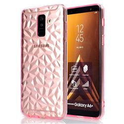 Diamond Pattern Shining Soft TPU Phone Back Cover for Samsung Galaxy A6 Plus (2018) - Pink