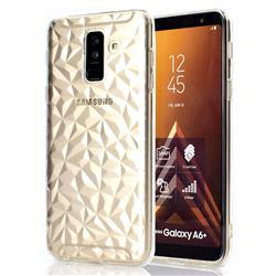 Diamond Pattern Shining Soft TPU Phone Back Cover for Samsung Galaxy A6+ (2018) - Transparent