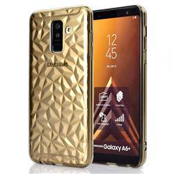 Diamond Pattern Shining Soft TPU Phone Back Cover for Samsung Galaxy A6+ (2018) - Gray