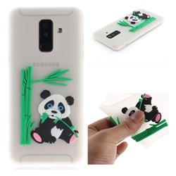 Panda Eating Bamboo Soft 3D Silicone Case for Samsung Galaxy A6 Plus (2018) - Translucent